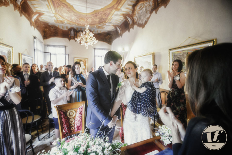 la cerimonia nei pressi di Padova