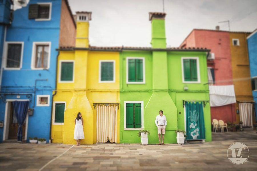 fotografico coppia fidanzati. Burano Venezia