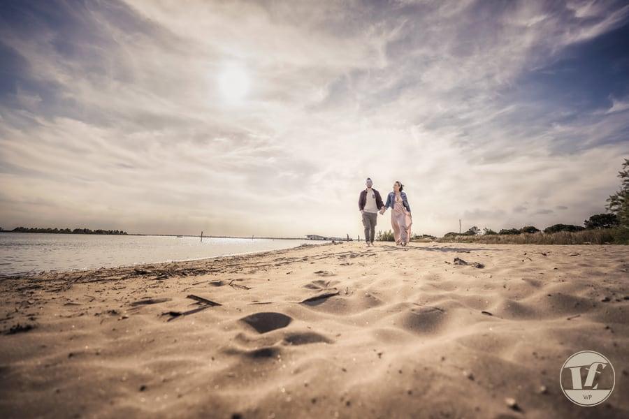 fotografo coppia fidanzamento mare Veneto