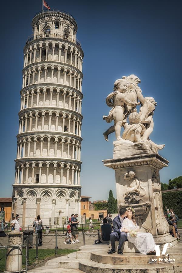 fotografo matrimonio Torre di Pisa