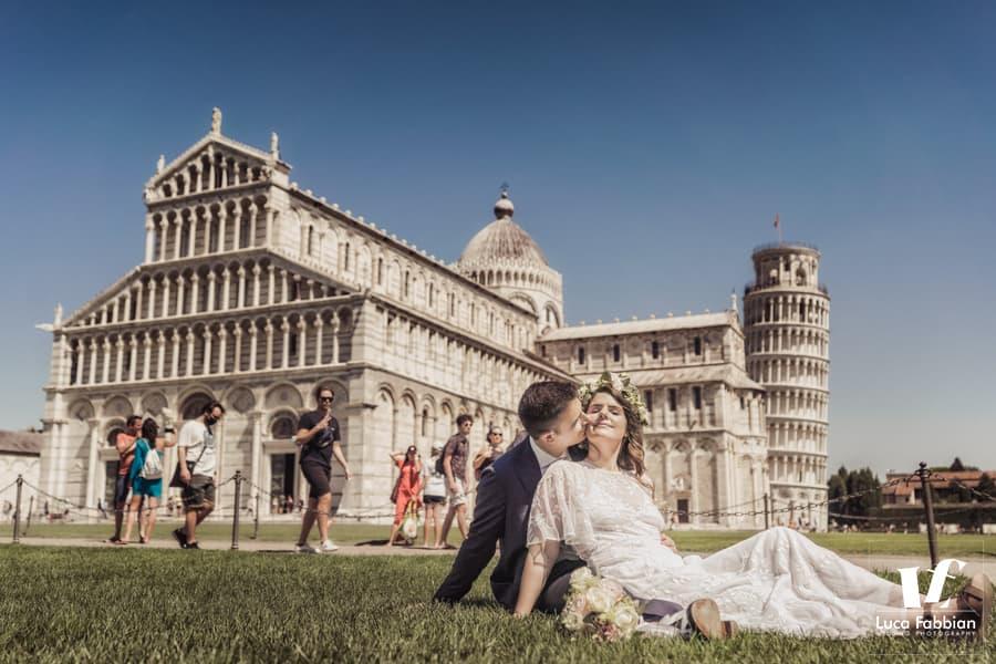 fotografo matrimonio Pisa - piazza miracoli