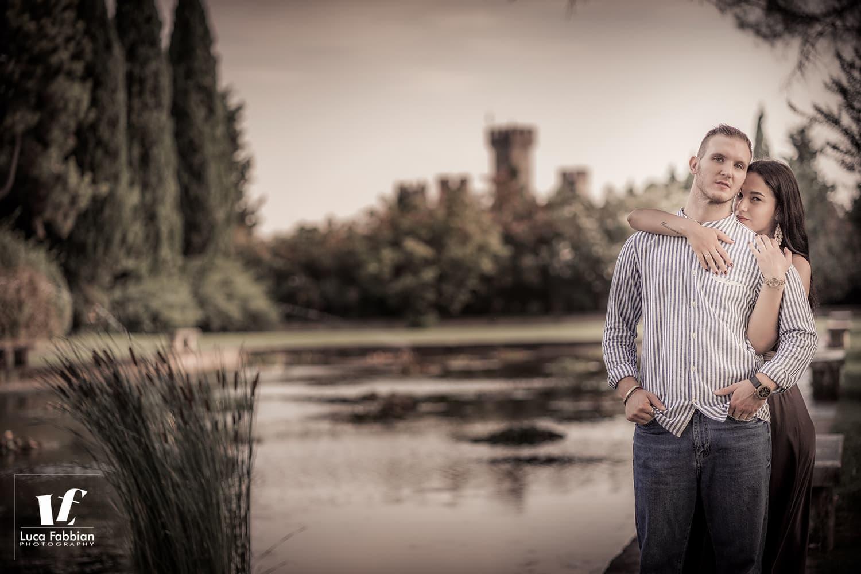 fotografia fidanzati Giardini Sigurtà Verona