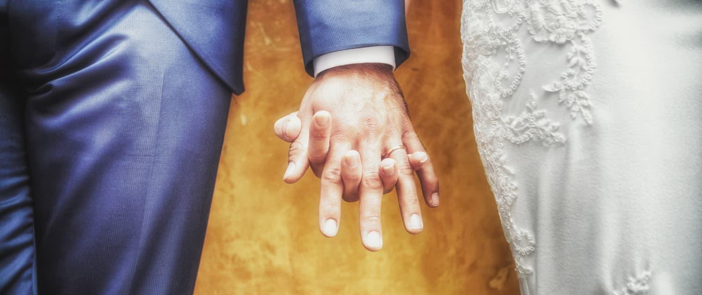 Dettaglio sposi Arquà Petrarca provincia Padova