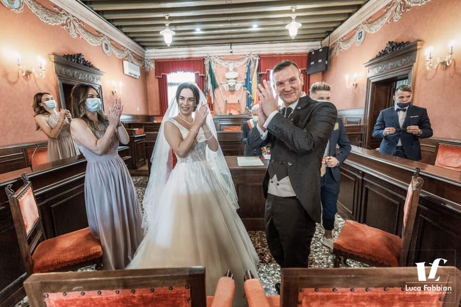 foto cerimonia civile matrimonio municipio Schio