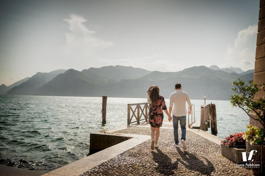 foto pre matrimonio al porticciolo di Malcesine