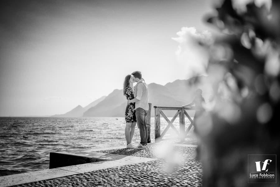 fotografia fidanzati al lago di Garda