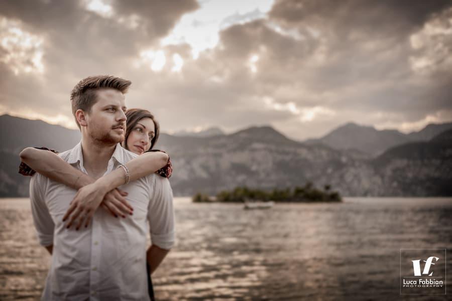 fotografia pre matrimoniale lago di Garda