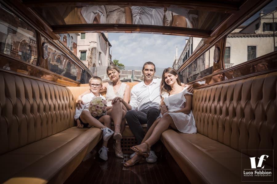 foto di famiglia a venezia