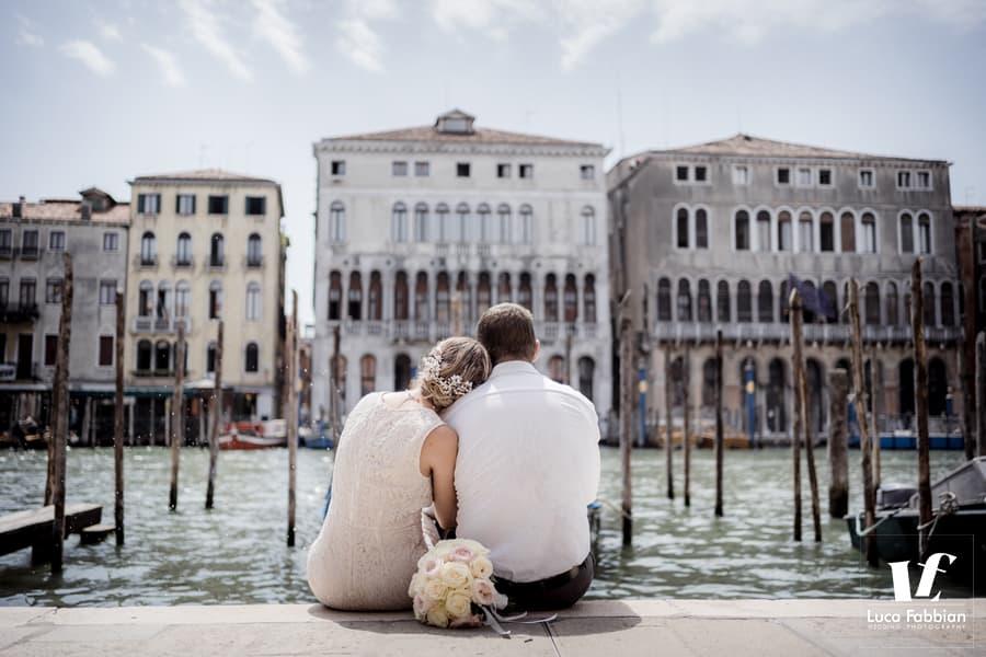 fotografia di matrimonio su Canal Grande a Venezia