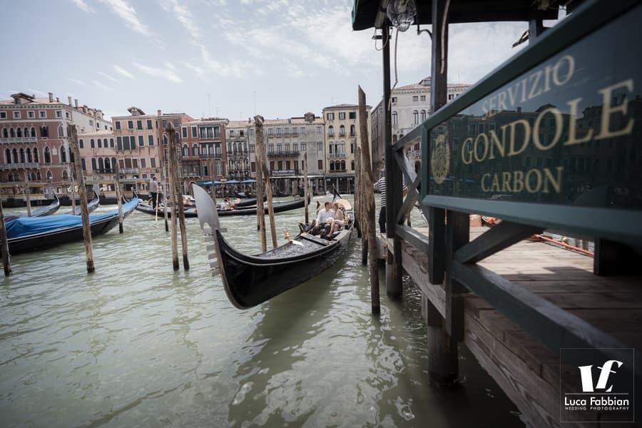 sposi in gondola Venezia